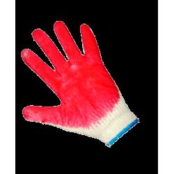Перчатки х/б с одинарным обливом (один облив латекса).