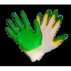 Перчатки ХБ с двойным обливом (двойной облив латекса).