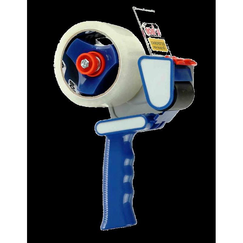 Диспенсер для скотча (скотч пистолет) UNIBOB. Для клейких лент шириной 48-50 мм. Индивидуальная упаковка (коробка).