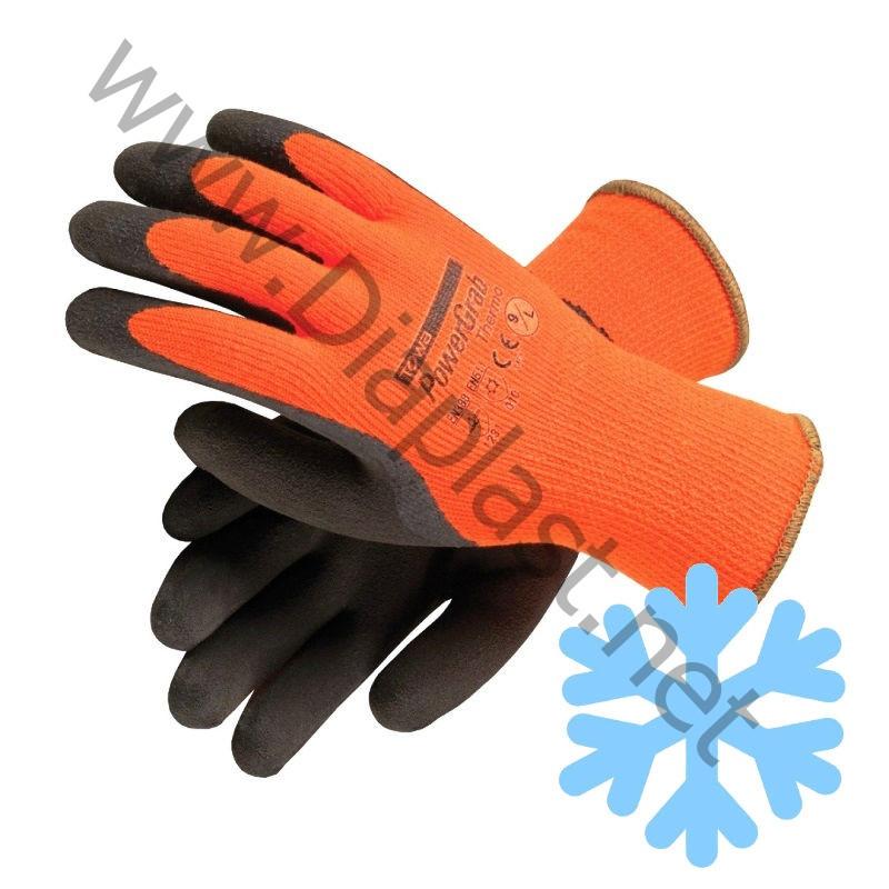 Перчатки ТОРРО утепленные 1/2 облива латекса. Цвет – оранжевый.