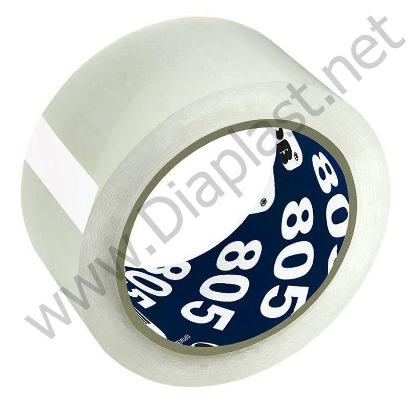 Клейкая лента упаковочная скотч 48мм х 66м, 50 микрон. Unibob 805.