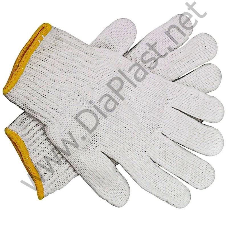 Рабочие перчатки трикотажные (ХБ)  4 нити, 10-й класс вязки.