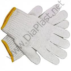 Рабочие перчатки трикотажные (ХБ) 5 нитей, 10-й класс вязки.