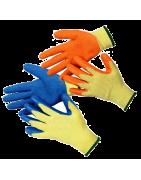 Перчатки рабочие с обливом латекса (обливные)